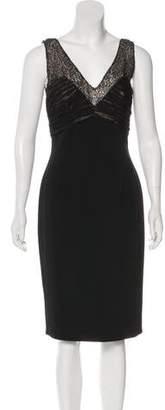 Carmen Marc Valvo Sequined Sleeveless Dress