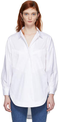 Opening Ceremony White Sateen Eliptical Seam Shirt