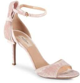 Valentino Pretty Bow Velvet Ankle-Strap Sandals