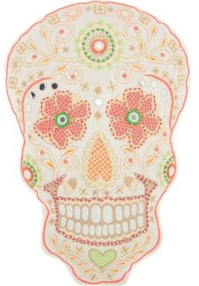 """Nourison Trendy, Hip, & New Age Day of the Dead Skull Decorative Throw Pillow, 12"""" x 15"""", Multicolor"""