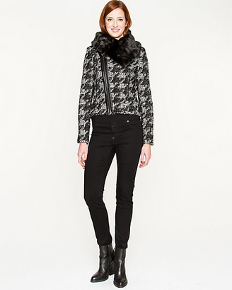 Le Château Houndstooth Wool Blend Jacket