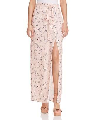 J.o.a. Floral Print Maxi Skirt