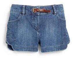 Chloé Toddler's & Little Girl's Scalloped Denim Shorts