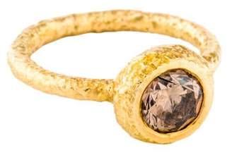 Ring 18K Brown Diamond