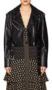 Proenza Schouler Women's Leather Biker Jacket - Black