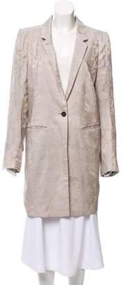 Ann Demeulemeester Jacquard Knee-Length Coat