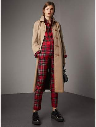 Burberry Reversible Gabardine and Tartan Wool Car Coat