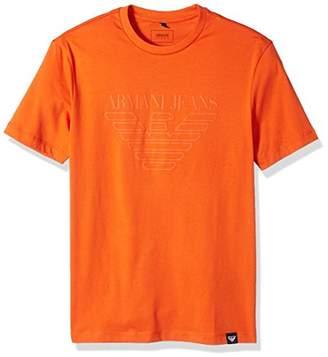 Armani Jeans Men's Plus Size Tonal Eagle Logo T-Shirt