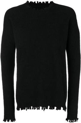 Uma Wang raw hem crew neck jumper