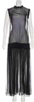 Thomas Wylde Ruffled Maxi Dress