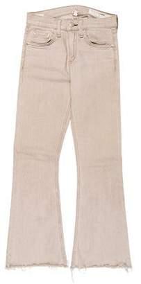 Rag & Bone Mid-Rise Flare Jeans