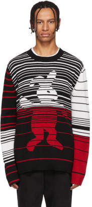 Marni Dance Bunny Black and Multicolor Striped Bunny Sweater
