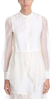 See by Chloe White Organza Blouse