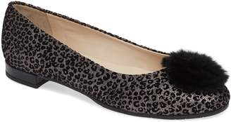Amalfi by Rangoni Glicine Genuine Fur Trim Flat