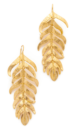 Kenneth Jay Lane Fishhook Earrings $60 thestylecure.com