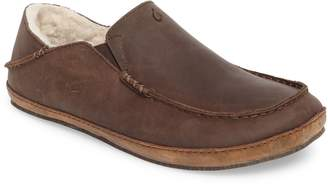 OluKai 'Moloa' Genuine Shearling Slipper