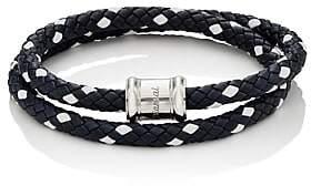 Miansai Men's Leather Wrap Bracelet-Navy