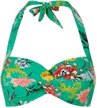 Seafolly Floral Twist Bikini Top