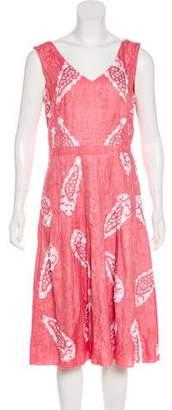 Tory Burch Beaded Jacquard Dress