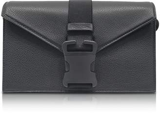 Christopher Kane Pitch Black Grained Leather Devine Og Bag