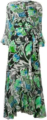 Diane von Furstenberg Tiger Lily print wrap dress