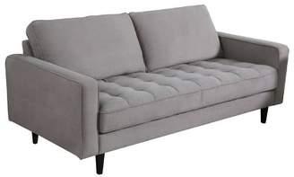 Abbyson Living Axel Mid Century Tufted Fabric Sofa Gray