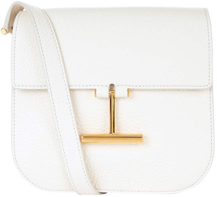 TOM FORD Tara Small Shoulder Bag, White, One Size