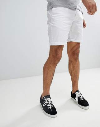 Asos Design DESIGN slim chino shorts in white