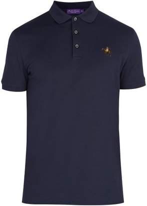 Ralph Lauren Purple Label Cotton Pique Polo Shirt - Mens - Navy
