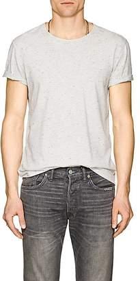 John Varvatos MEN'S DONEGAL-EFFECT COTTON-BLEND T-SHIRT - WHITE SIZE XL