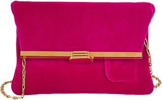 Bienen Davis Velvet Pink Foldover Clutch Bag