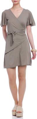 Flora Bella (フローラ ベラ) - Florabella カシュクール リボン 半袖ドレス ソープストーン s