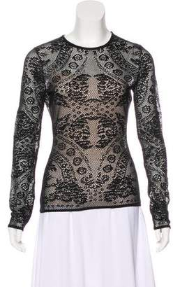 Christian Dior Crochet Crew Neck Sweater