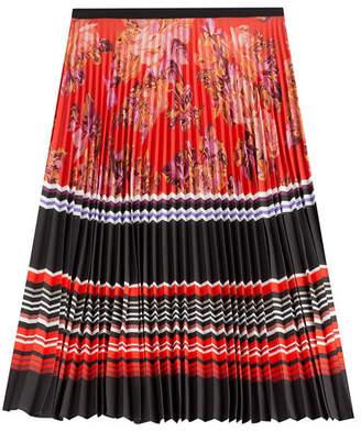 Mary Katrantzou Pleated Print Skirt
