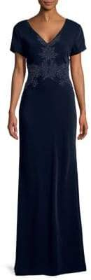 Beaded Cowl Back Gown