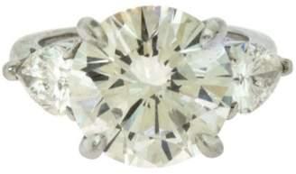 Tiffany & Co. Platinum 5.26ct Diamond Ring Size 3.75