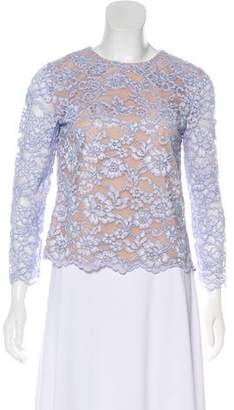 Diane von Furstenberg Belle Lace Long Sleeve Blouse
