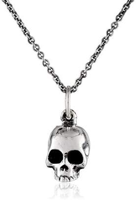 King Baby Studio Micro Skull on Micro Rolo Chain Pendant Necklace