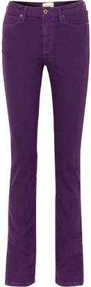 Simon Miller W009 Letha Mid-rise Slim-leg Jeans - Purple