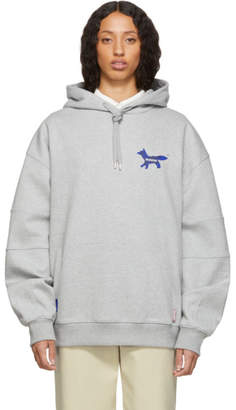 MAISON KITSUNÉ Grey ADER error Edition The Blue Fox Hoodie