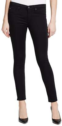 AG Legging Ankle Jeans in Black Stretch Sateen $178 thestylecure.com