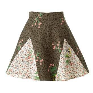 Supersweet X Moumi Never-Wake-Up Berry Rhonda Skirt in Green