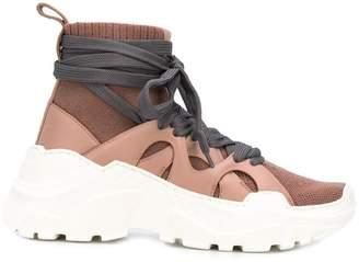 Agnona high top sock-style sneakers