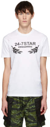 DSQUARED2 White 24-7Star Chic Dan Fit T-Shirt