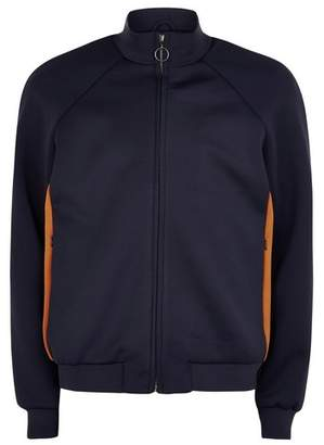 Topman Mens Navy Track Top With Side Panel