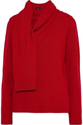 GOEN.J Draped Wool And Cashmere-blend Sweater