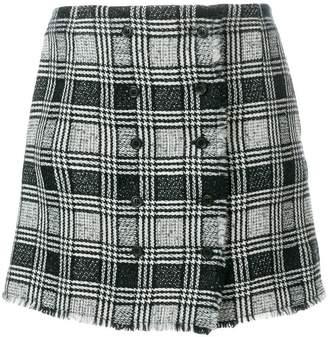 Thom Browne Prince Of Wales Tweed Mini Skirt