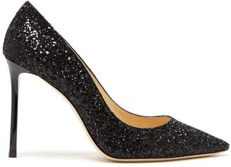 Jimmy Choo Romy 100mm glitter pump