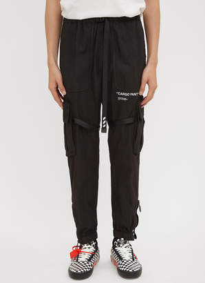 Off-White Off White Cargo Pants in Black