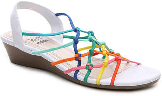 Women's Impo Rhyme Wedge Sandal -White/Multicolor $52 thestylecure.com